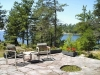 MLS® 20090235 Sans Souci Cottage Sold By Rick Hill: Facing Flagstone Patio Facing Forest And Georgian Bay