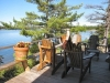 MLS® 20092034 Sans Souci Cottage Sold by Rick Hill of RLP In Touch Realty Inc., Brokerage (MLS® 20092034): Deck Facing Georgian Bay Inland Channel