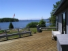 MLS® 20101643 Sans Souci Cottage For Sale: Deck Facing Georgian Bay Inland Waterway View