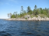 Georgian-Bay-Honey Harbour-Cognashene-Cottage-Facing-Island-Coastline-Off-shore-Spit-View