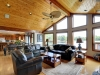 Honey-Harbour-Georgian-Bay-Cottage-Facing-Interior-Living-Room-Siting-Area-With-Big-Windows-Deck-Inland-Waterway-Georgian-Bay