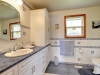 Honey-Harbour-Georgian-Bay-Cottage-Interior-Washroom-Wood-Paneling-Theme-Vanity
