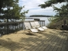 MLS® 20101311 Sans Souci Cottage For Sale: Deck With Georgian Bay View