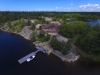 Georgian Bay Shore Muskoka Ontario Spacious Cottage 01 Arial View of the Entire Property