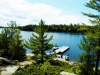 Georgian Bay Shore Muskoka Ontario Spacious Cottage 07 View of One Dock from Cottage