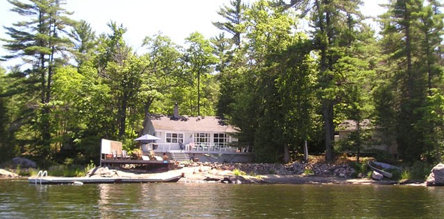 Waterfront Cottage For Sale along shoreline of Mermaid Island on Georgian Bay.