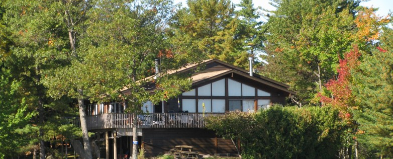 Georgian Bay Cottage For Sale On Roberts Island In Honey Harbour Facing Front Waterfront Facade