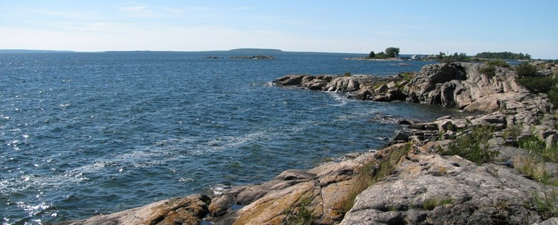 Honey-Harbour-Georgian-Bay-Island-Property-Vacant-Building-Lot-For-Sale-01-Water-View-Of-Giants-Tomb